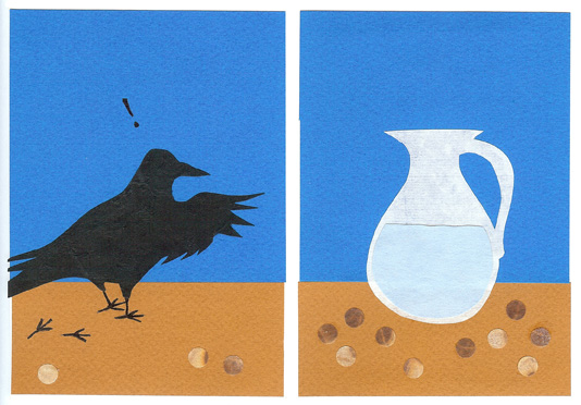 page 3 from - The Crow and The Water Jug - a wordless Aesop counting story by Sue Clancy