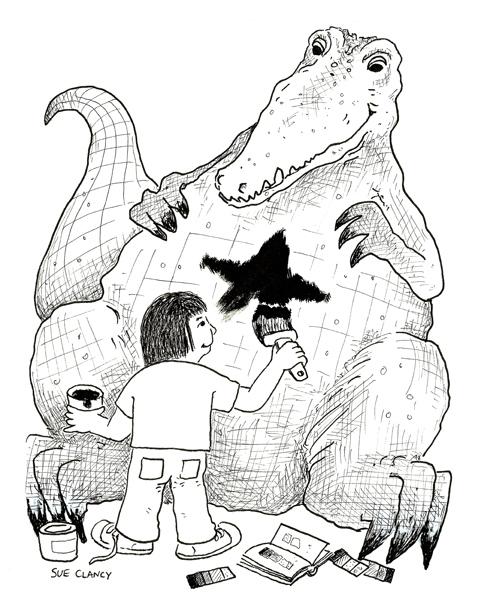 Painting A Crocodile
