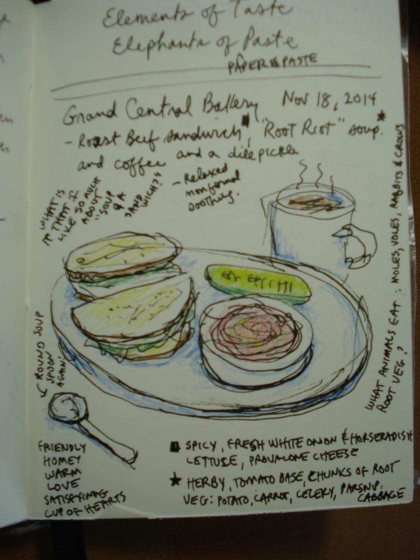 sandwich and soup from my sketchbook