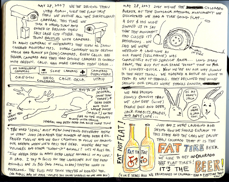 Oregon Coast Sketchbook Page