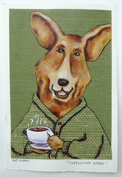Cappuccino Corgi by Sue Clancy