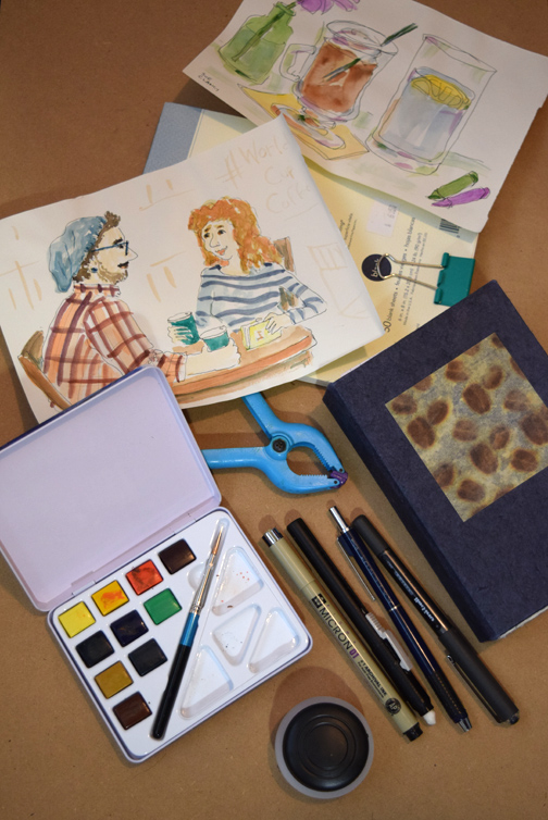 Sue Clancy's portable sketching-on-the-go gear