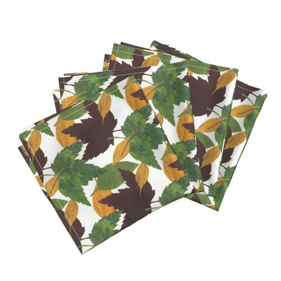 Cocktail napkins by Clancy https://roostery.com/p/frizzle-cloth-cocktail-napkins/6316427-autumn-leaves-by-sueclancy
