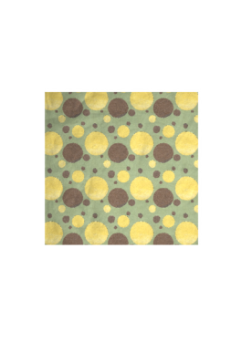 Pattern design inspired by a table with multiple cups of coffee, some with cream in them, viewed from above
