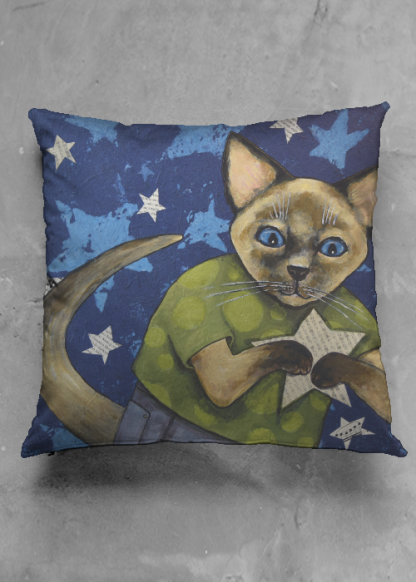 Pillow with art by Sue Clancy http://www.shopvida.com/collections/sue-clancy