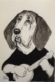 """""""Pickles"""" by Sue Clancy - ink on handmade paper"""