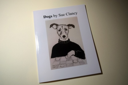 Front cover of Dogs by Sue Clancy https://store.bookbaby.com/book/Dogs-By-Sue-Clancy