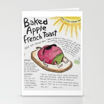 """Baked Apple French Toast"" card - http://tinyurl.com/yd3dkwyt"